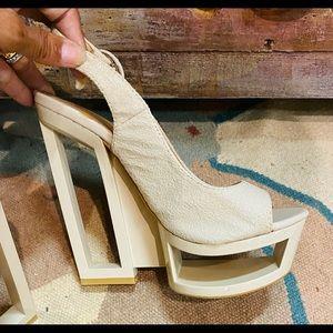 C label platform Campbell architecture sandals 8